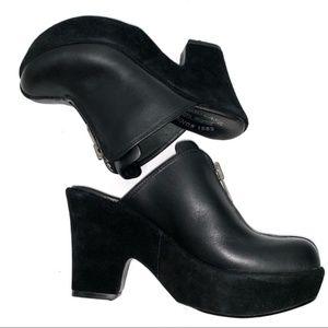 Kork Ease Leather Mules Clogs Platform Booties